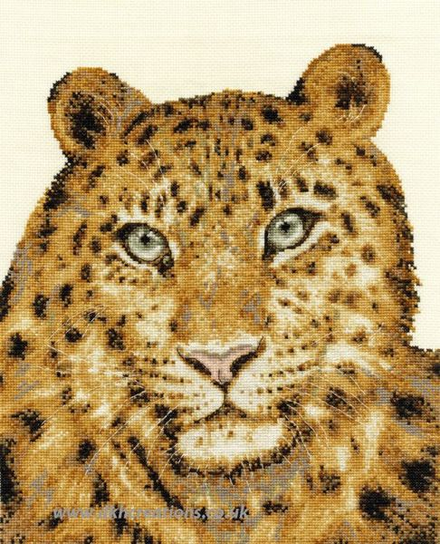Amur Leopard Twilight Cross Stitch Kit